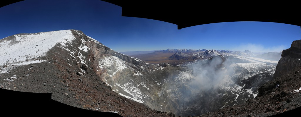 Looking into that steaming crater going over a kilometer down, it's easy to see how hell being down below where the sulfur boils was an easy sell!